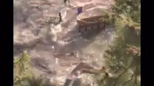 Storm surge on Okanagan Lake destroys property
