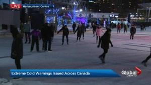 Toronto skaters embrace deep freeze