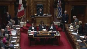 Spending scandal hangs over B.C. throne speech