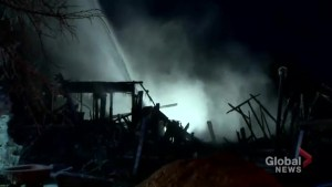 Family home under renovation destroyed by late night fire in Nobleton, Ont.