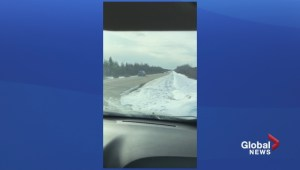 Raw video of RCMP chasing Calgary murder suspect Adam Bettahar on Highway 16