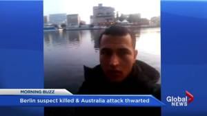 Berlin terror suspect killed in Milan