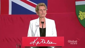 Kathleen Wynne asked about possible ways to salvage Ontario Liberal Party status