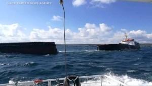 Cargo ship breaks in two off Turkey coast