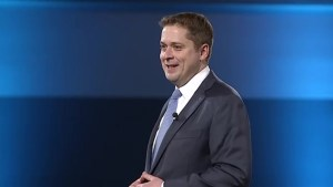 Andrew Scheer touts repealing of carbon tax as platform to victory over Liberals