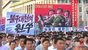 North Koreans stage mass rally to denounce U.N. resolutions