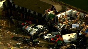 Oklahoma tornado leaves at least two dead after storm rips through mobile home park and motel