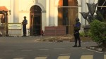 Increased security seen outside Sri Lanka church just days after terror attacks