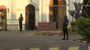 Increased security seen outside Sri Lanka church just days after terror attacks (02:06)