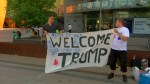 Pro-Trump supporters rally in Helsinki ahead of summit with Putin