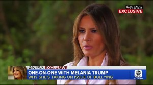 Melania Trump says she's one of the 'most bullied people in the world'