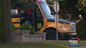 Edmonton school board cancels 2 routes after bus delays (02:20)