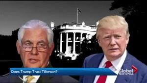 Does Trump trust Tillerson?