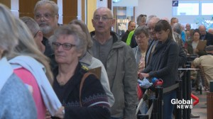 Calgarians line up for flu shot