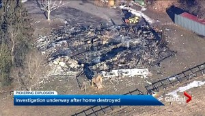 Explosion levels luxury home in Pickering