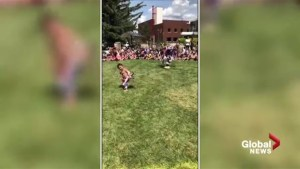 Video of 2-year-old boy dancing at Alberta powwow goes viral