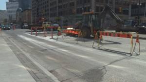 Traffic delays continue on Portage Avenue (00:30)