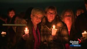 Vigil held in Valleyview, Alta. for woman killed in Las Vegas shooting