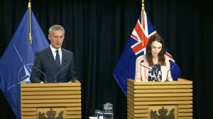 New Zealand PM, NATO chief say they're united in stopping extremism