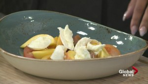 Summer cooking: Joe Fortes halibut with peach and tomato salad