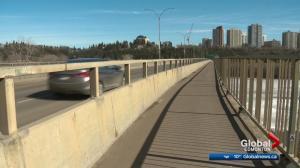 Groat Road Bridge construction work now underway in central Edmonton
