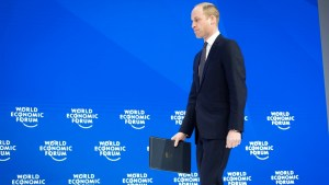 Prince William arrives in Davos for World Economic Forum