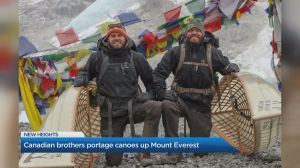 Canadian brothers conquer Mount Everest Base Camp with canoes on their backs