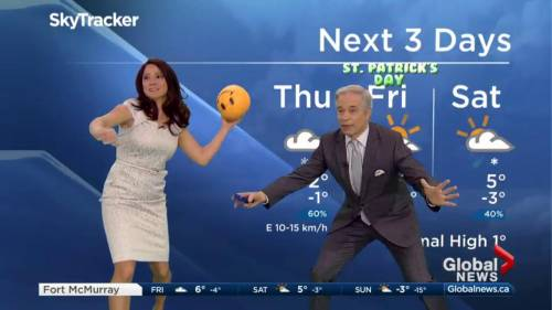 Dodgeball time! Mike and Daintre get active on Global News ...