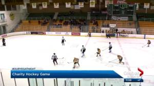 Our YEG at Night: Pandas Hockey faces off against Golden Bears football