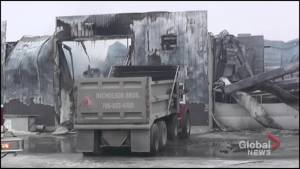 Fire destroys Nicholson Bros Concrete and Construction in Campbellford