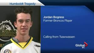 Former Humboldt Bronco Jordan Bogress reflects on bus tragedy