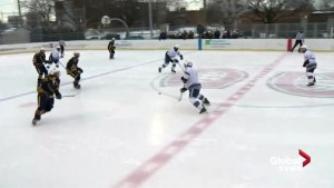 High school hockey teams face off in LaSalle