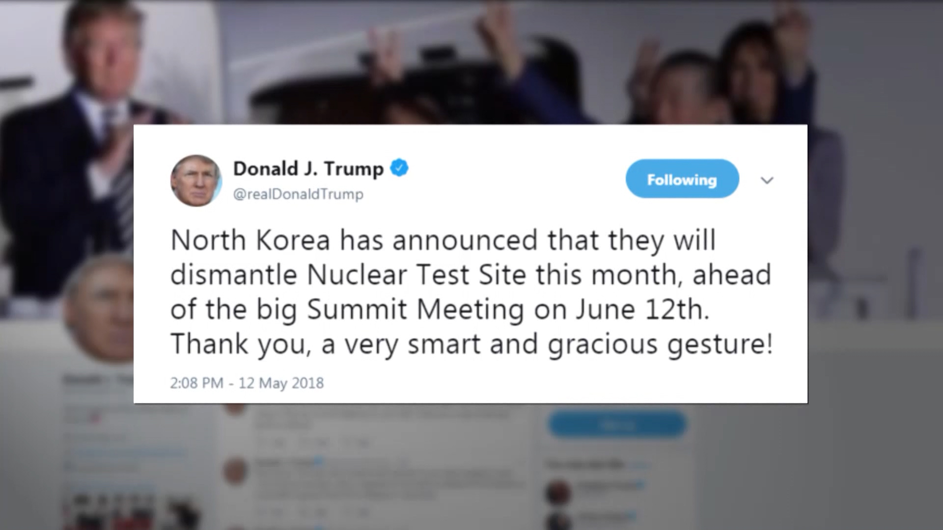 Pres. Trump sends out Mother's Day message on Twitter