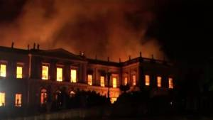 Fire engulfs 200-year-old national museum in Brazil