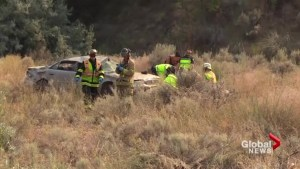 Person ejected from crash near Penticton