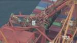 Floating cranes will lift other collapsed crane at Port of Vancouver