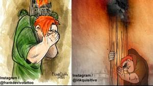 Artists pay tribute to Notre Dame Cathedral following fire