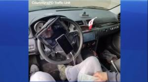 Vancouver driver busted with elaborate steering wheel setup