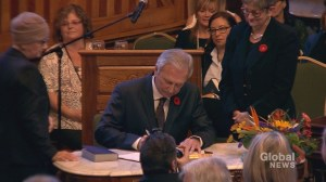 Higgs sworn in as N.B. premier