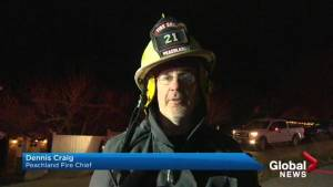 Peachland's fire chief describes Friday night blaze