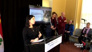 Valérie Plante welcomes homeless to emergency shelter at former Royal Vic