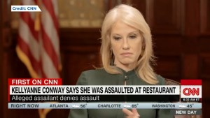 Kellyanne Conway claims during CNN interview she was assaulted