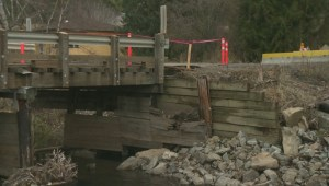 Long awaited fix underway for washed-out north Okanagan bridge