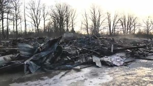 Fire destroys a Tyendinaga house