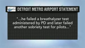 Commercial airline pilot fails sobriety test at Detroit airport