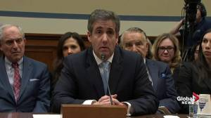 Cohen presents alleged cheque from Trump for hush money payments while still in office