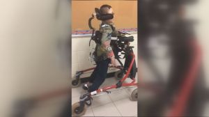 8-year old Brampton student walks on his own for first time