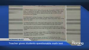 Alabama teacher suspended for giving math test about drugs and guns