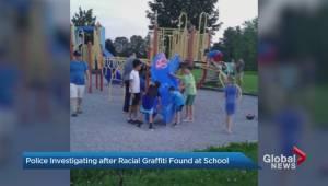 York police investigating anti-Semitic, racial graffiti found in 3 Markham schools (01:45)
