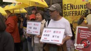 Protesters in Vancouver rally against China's extradition bill